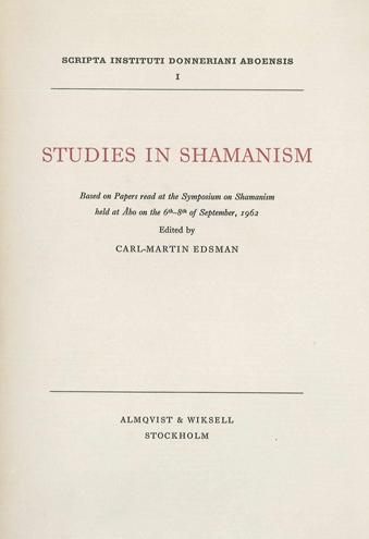Vol 1 (1967): Studies in Shamanism