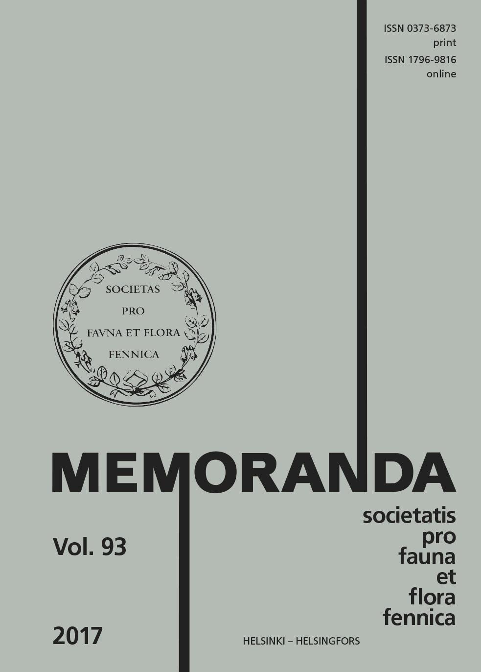 Näytä Vol 93 (2017): Vuosikirja 2017