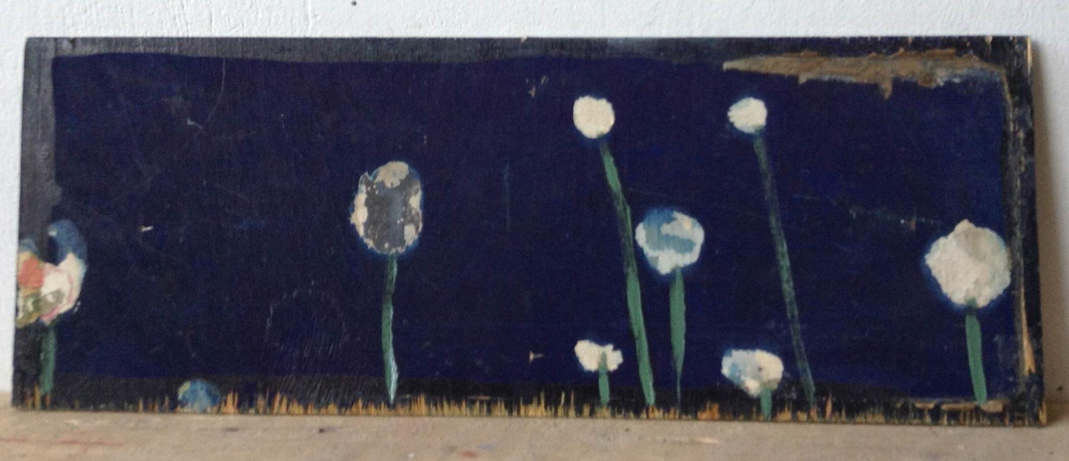 Irina Zatulovskaja: Kukat, 1999, öljy puulle.