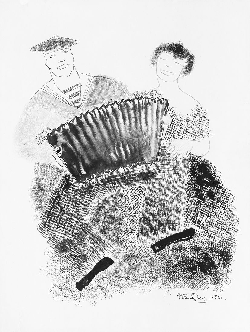 Fjodor Bogorodski: Haitaria soittava merimies heiloineen (1930).
