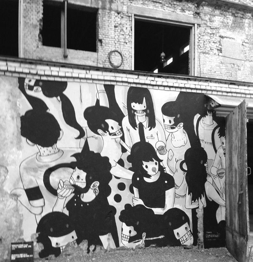 Kuva: Pasha Bumažni: Kuolema syy rauhaan, 2014 (Pietarin Manifesta 10 -näyttelystä).