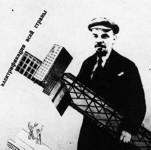 Kuva:Gustav Klutsis: Koko maan sähköistäminen (1920).