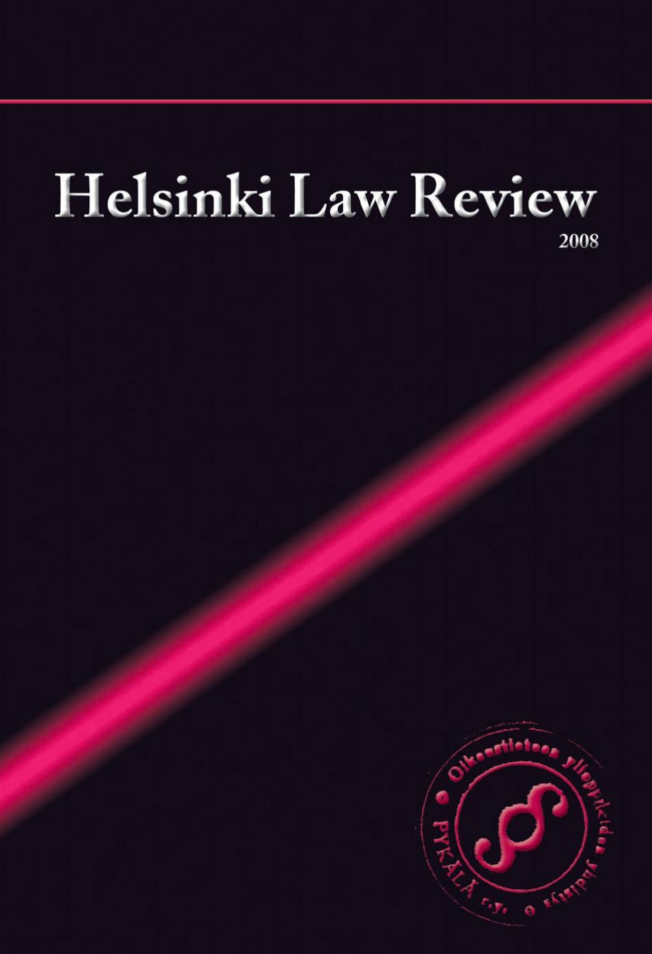 Näytä Vol 2 Nro 1 (2008): Helsinki Law Review 1/2008