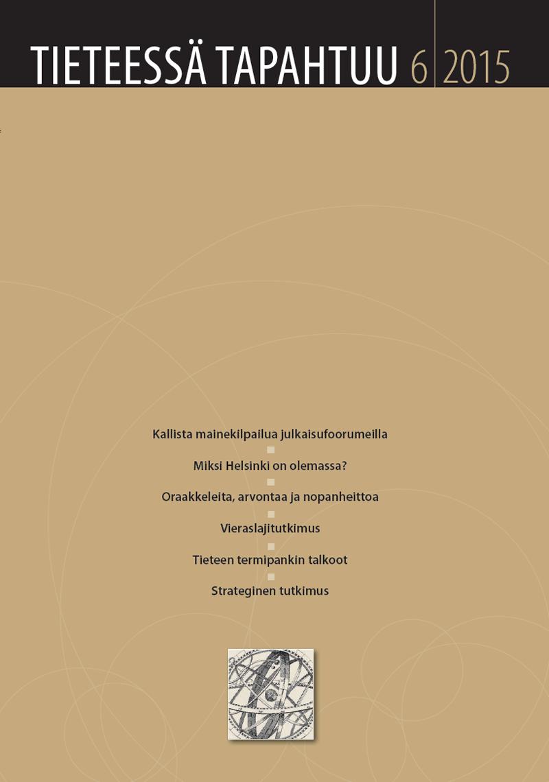 Näytä Vol 33 Nro 6 (2015)