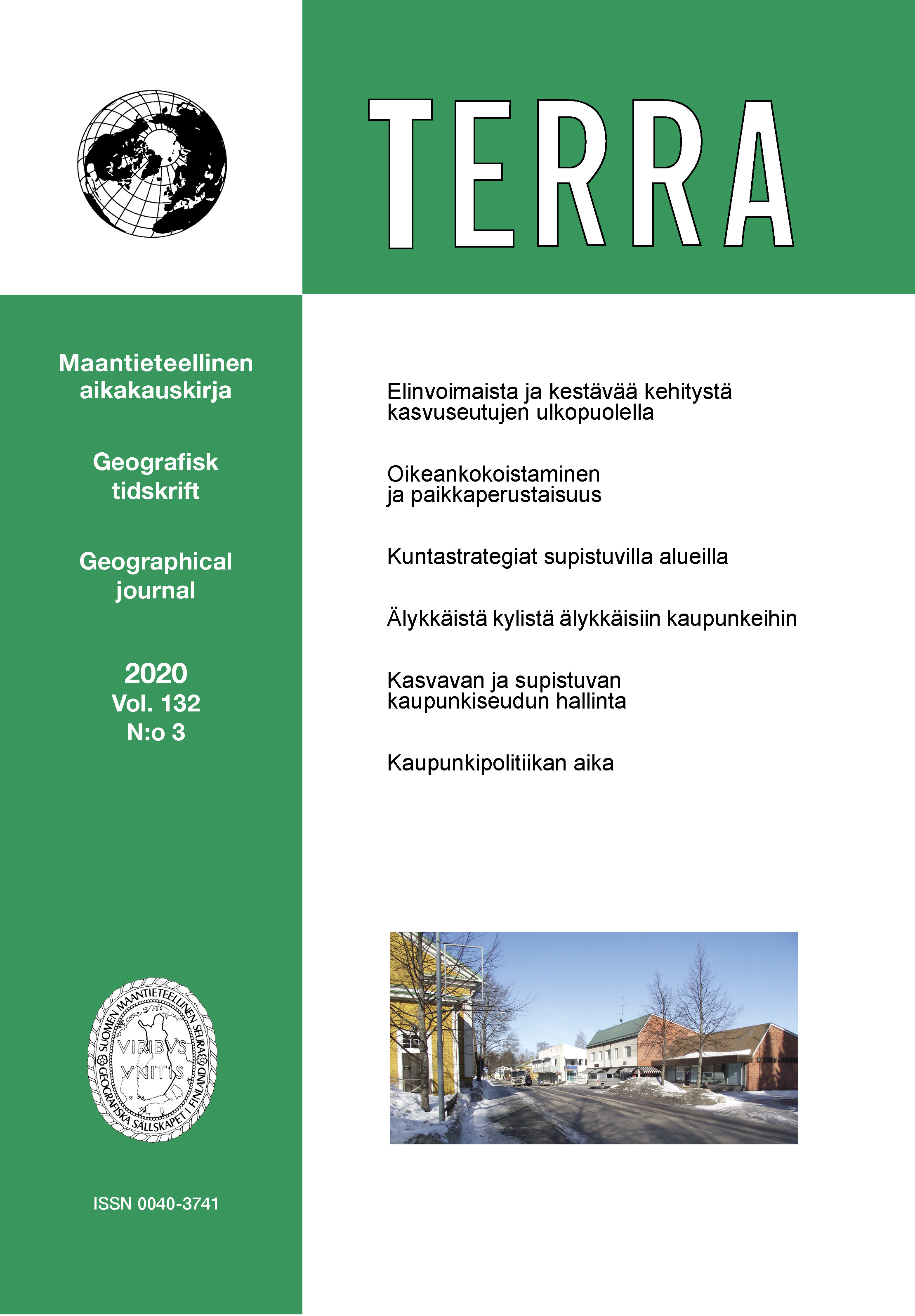 Vol 132 Nro 3 (2020): Oikean kokoinen kaupunki?