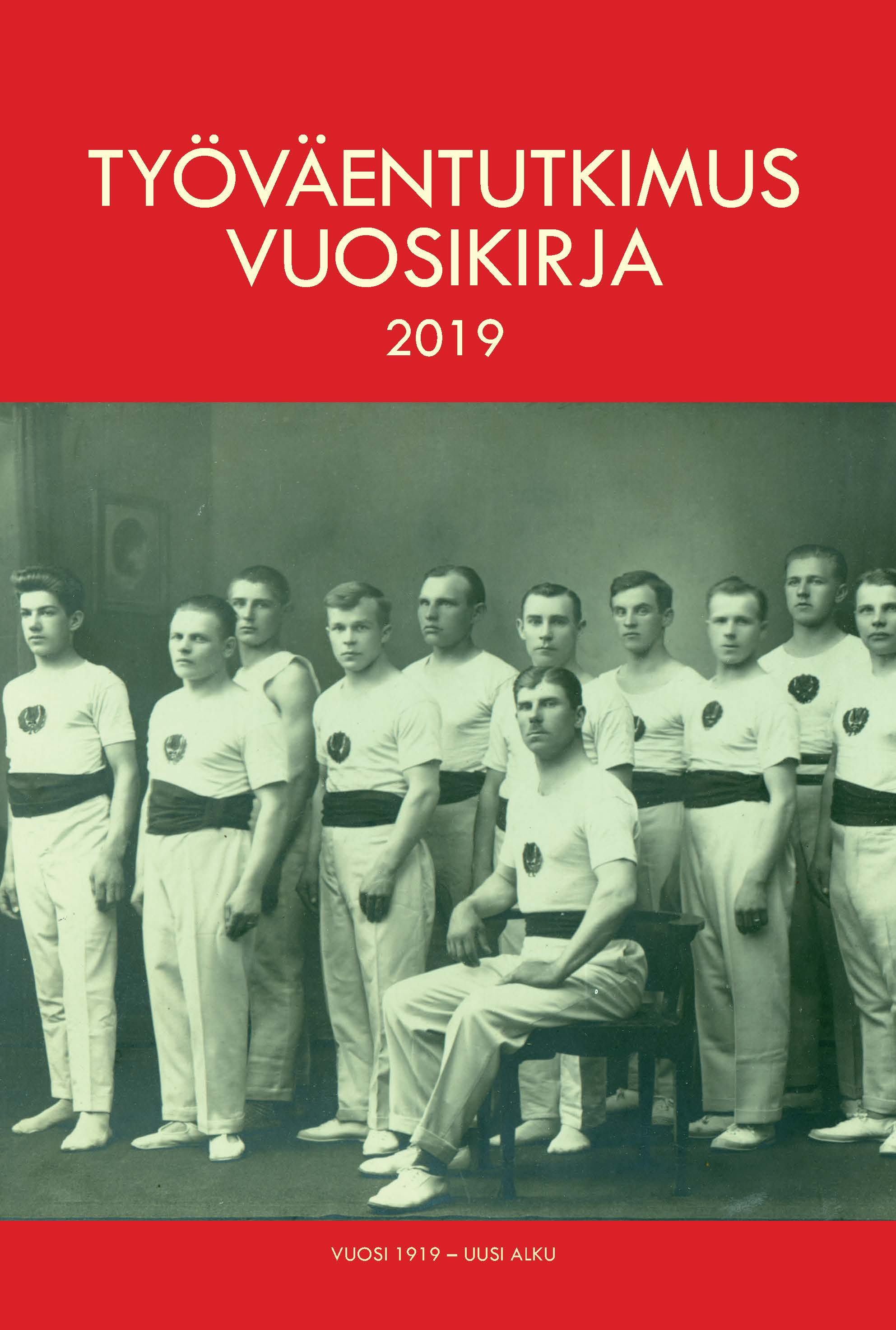 Tahmelan Vesan miesvoimistelijoita Tampereella vuonna 1927.