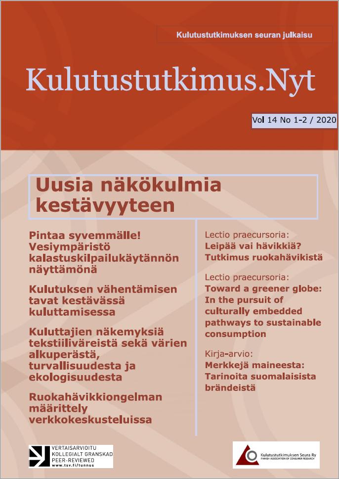 Näytä Vol 14 Nro 1-2 (2020): Kulutustutkimus.Nyt 1-2/2020