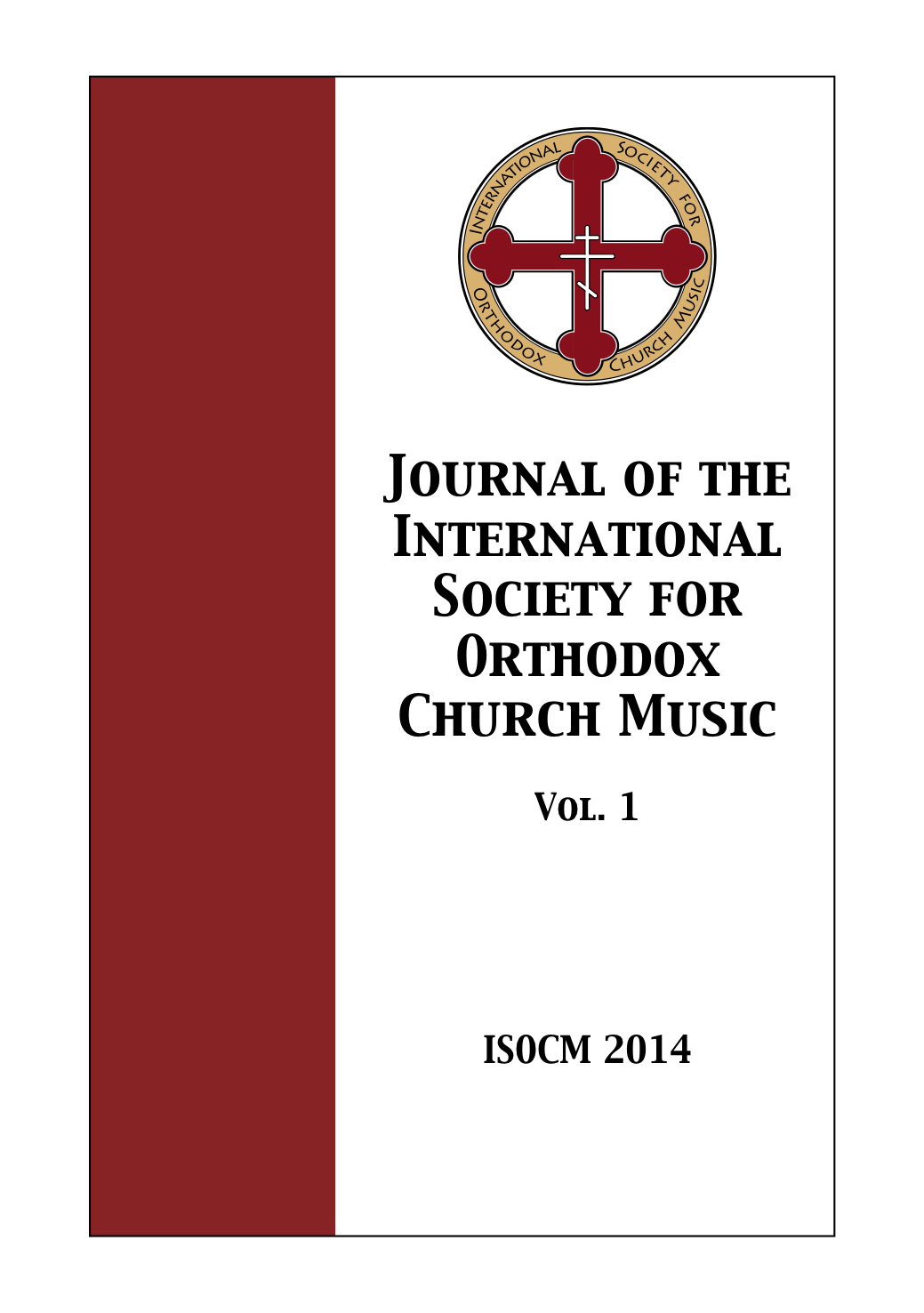 Cover of Journal of ISOCM Vol. 1