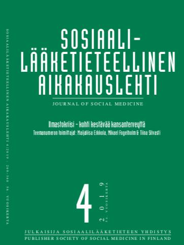 Vol 56 Nro 4 (2019): TEEMANUMERO: Ilmastokriisi - kohti kestävää kansanterveyttä