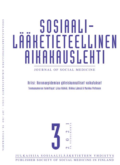 Näytä Vol 58 Nro 3 (2021): Teemanumero: Kriisi: Koronaepidemian yhteiskunnalliset vaikutukset