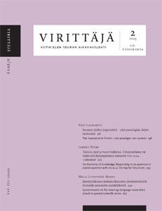 Virittäjä 2/2013