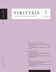 Virittäjä 3/2013