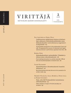 Virittäjä 2/2016