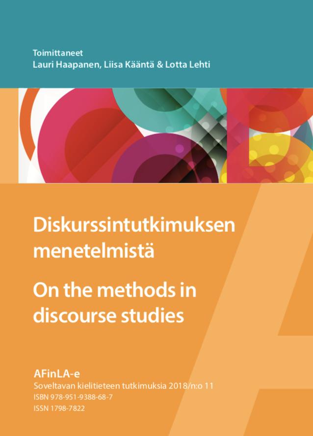 Näytä Nro 11 (2018): Diskurssintutkimuksen menetelmistä