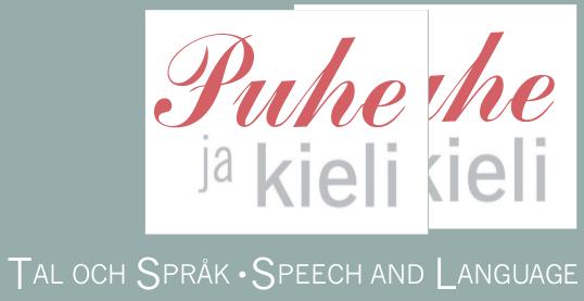 Puhe ja kieli