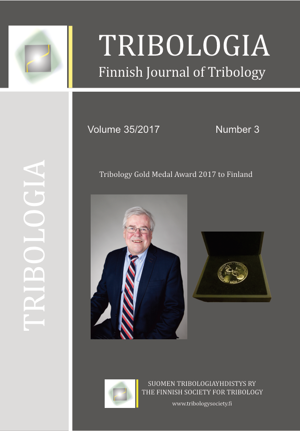 Tribologia - Finnish Journal of Tribology