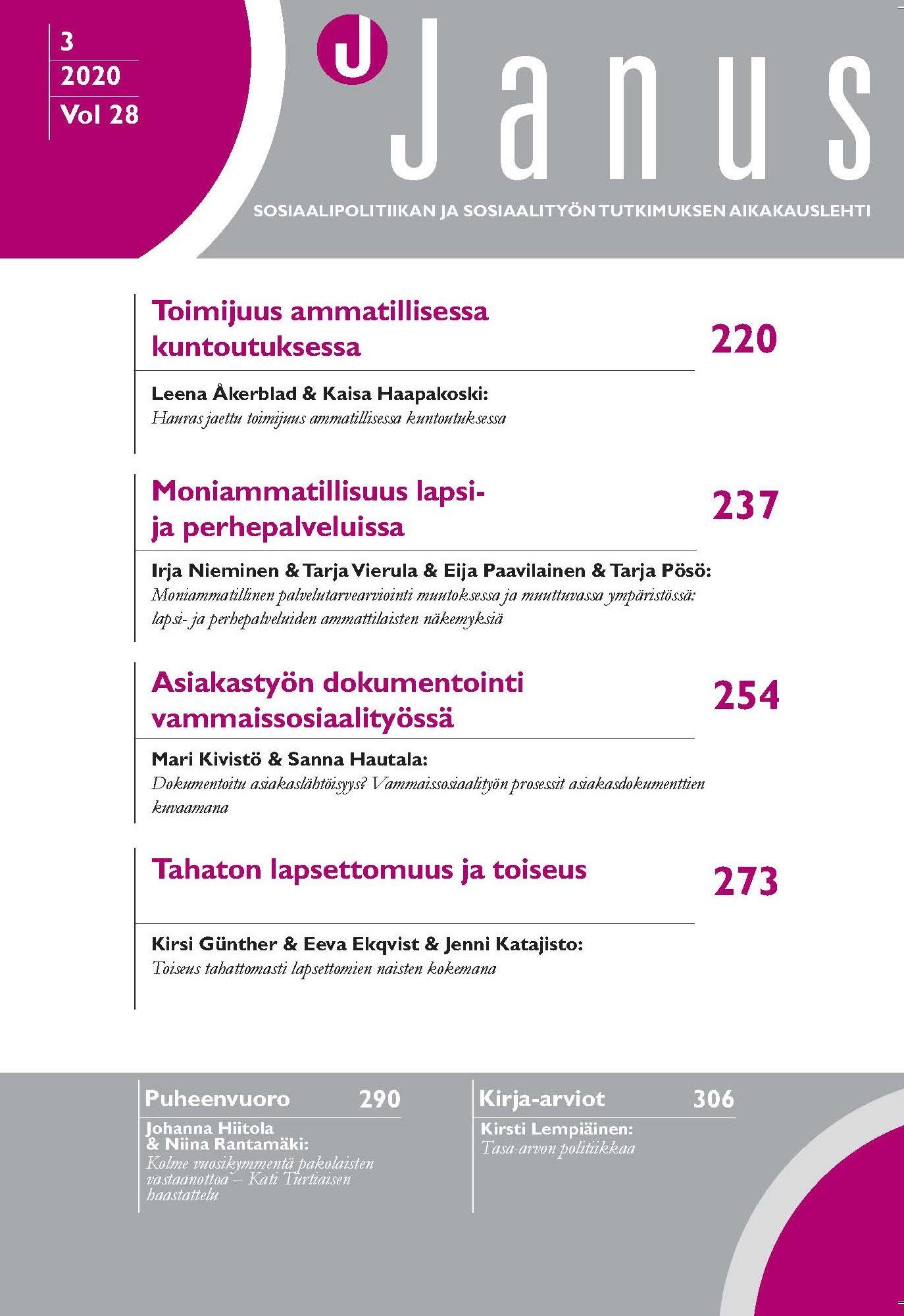 Januksen 3/2020 kansilehti