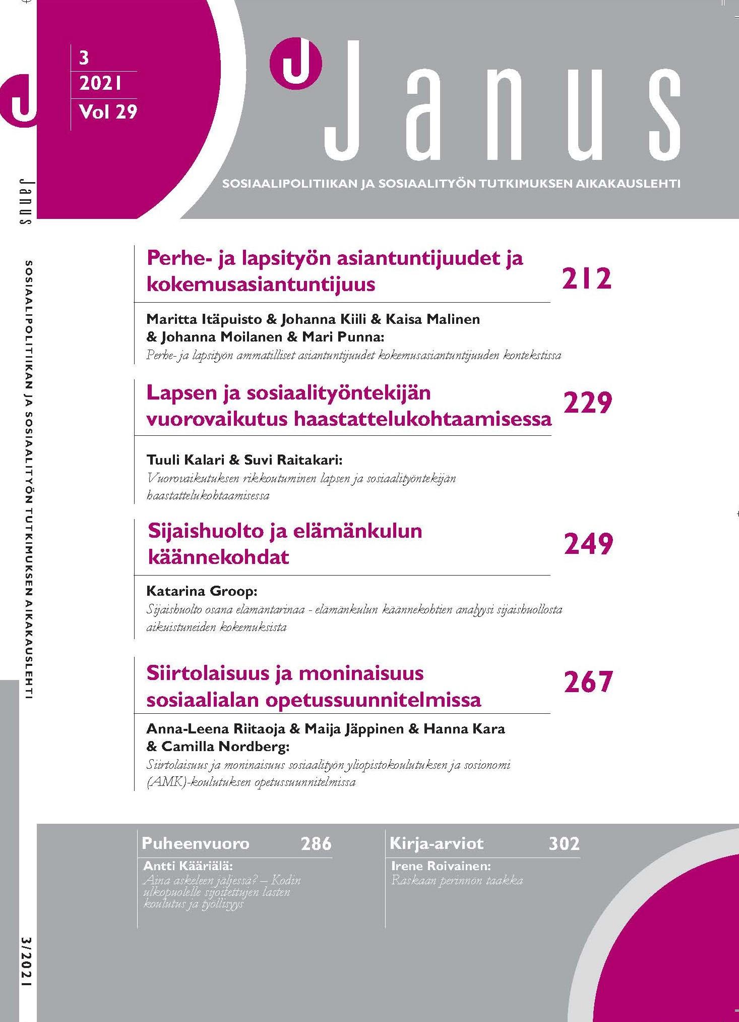 Janus kansilehti 3/2021