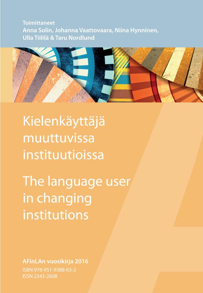 AFinLAn vuosikirja 2016 (Suomen soveltavan kielitieteen yhdistyksen julkaisuja 74)