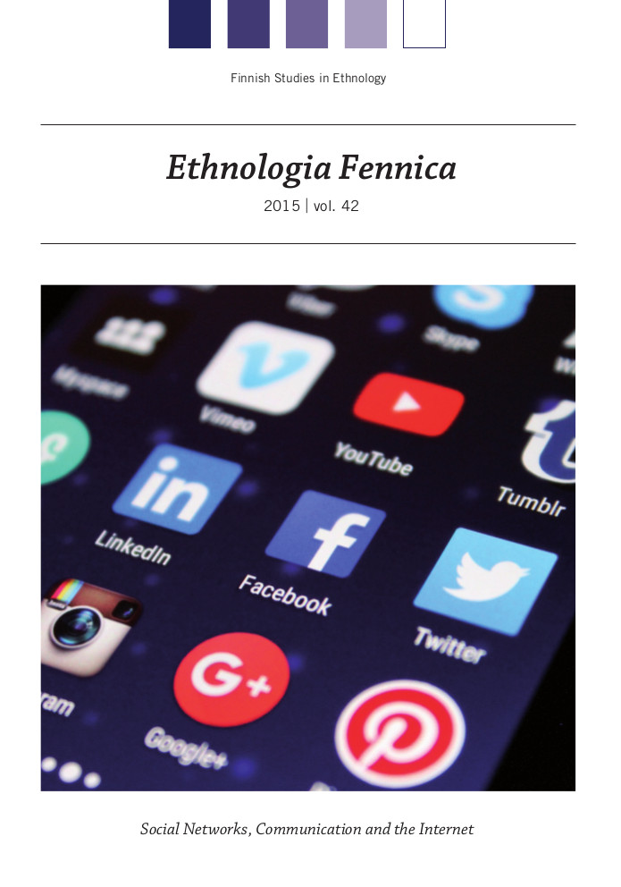 Finnish Studies in Ethnology, Ethnologia Fennica, Social Networks, Communication, and the Internet
