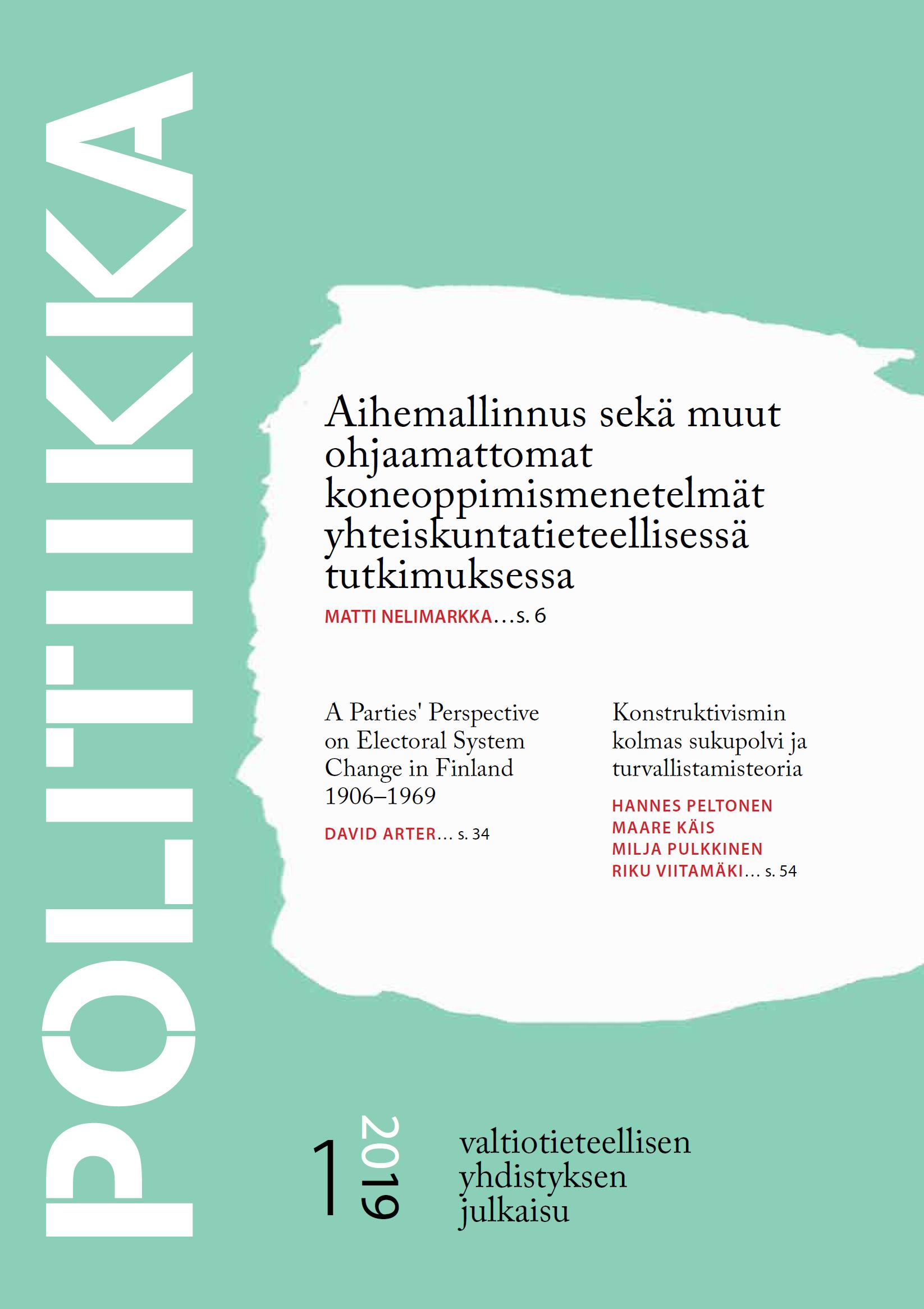 Näytä Vol 61 Nro 1 (2019)
