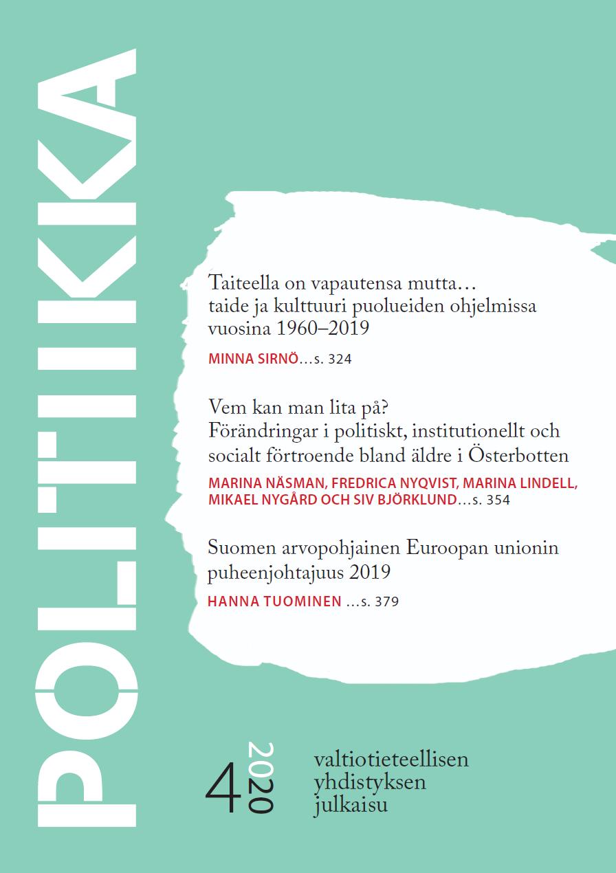 Näytä Vol 62 Nro 4 (2020)