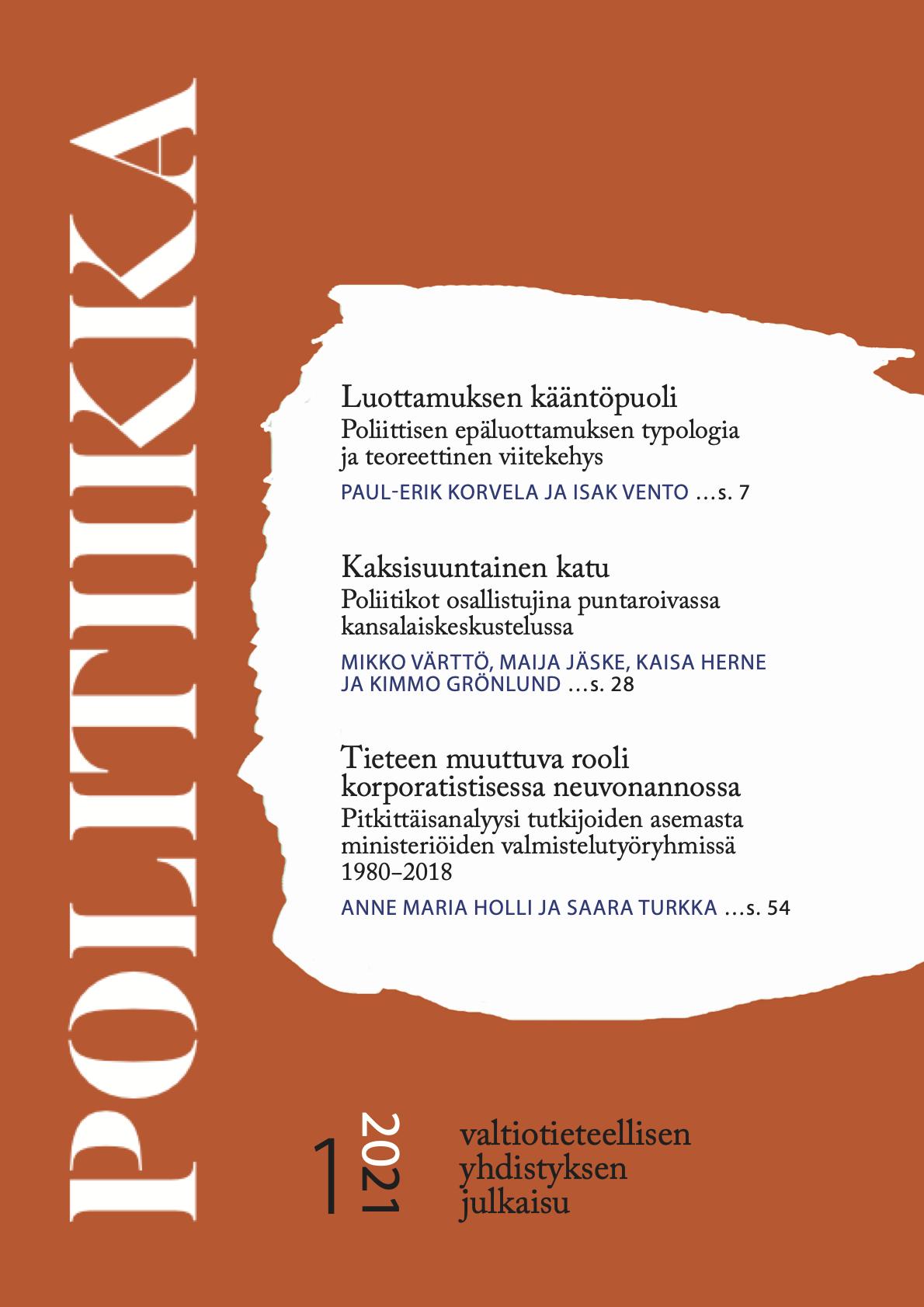Näytä Vol 63 Nro 1 (2021)