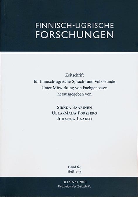 Finnisch-Ugrische Forschungen 64 FUF 64