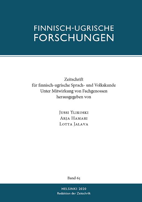 Finnisch-Ugrische Forschungen 65 FUF 65