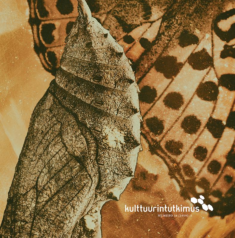 Kansikuva: Tyylitelty perhosen siipi ja kotelo