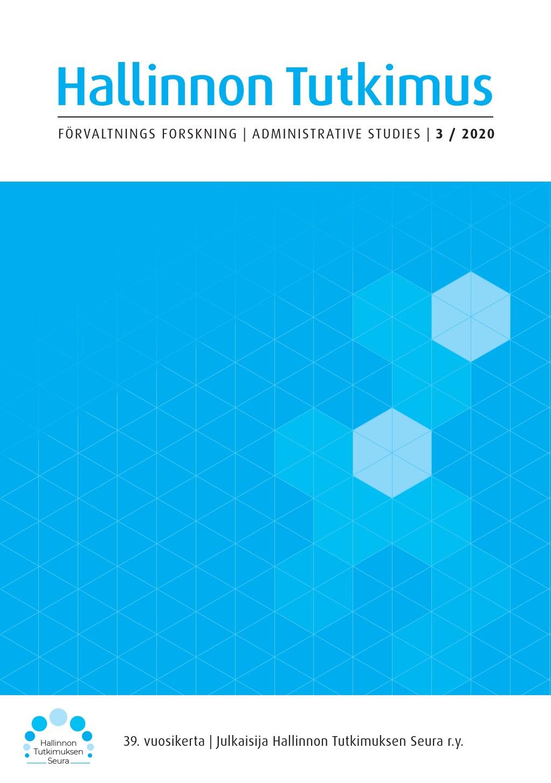 Vol 39 Nro 3 (2020): Hallinnon Tutkimus